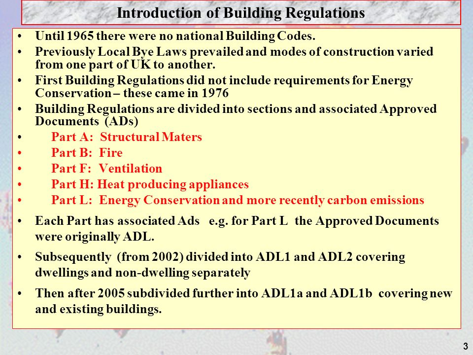 Introduction of Building Regulations