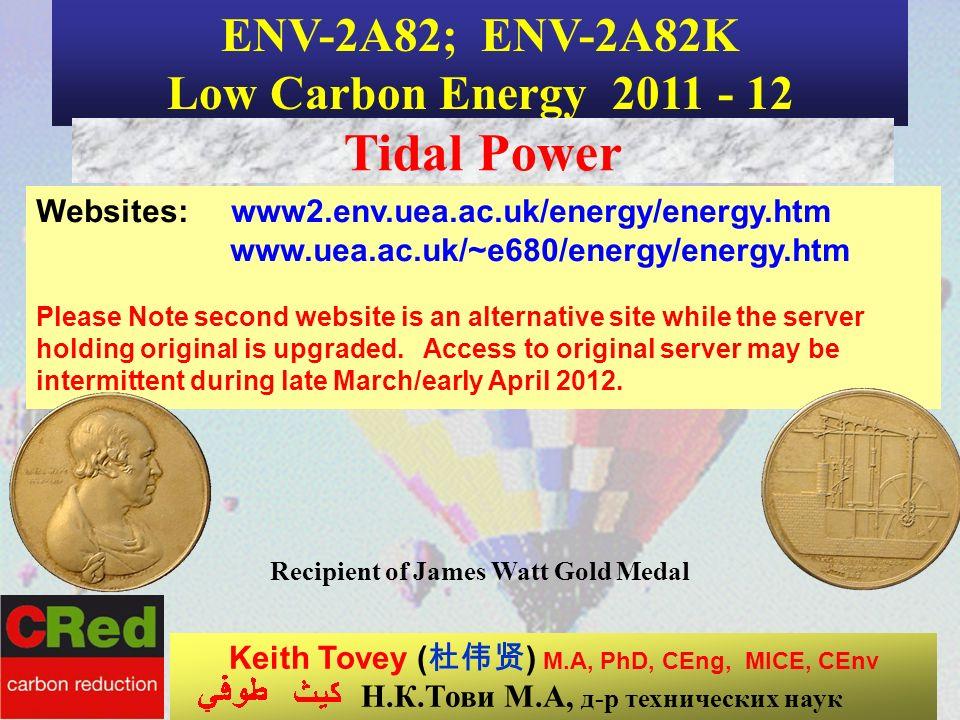 Recipient of James Watt Gold Medal Н.К.Тови М.А, д-р технических наук