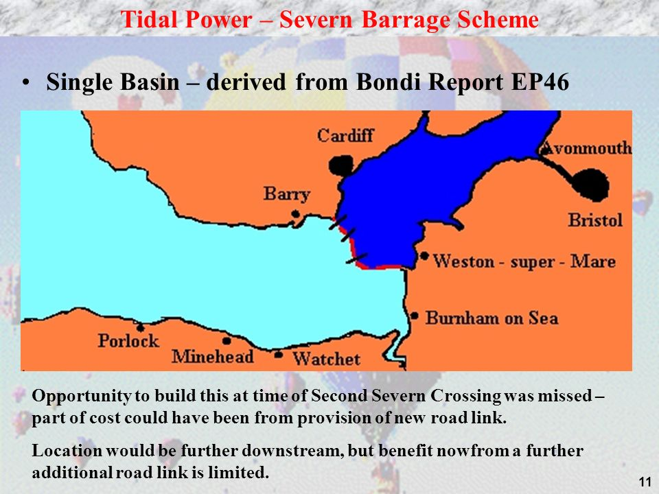 Tidal Power – Severn Barrage Scheme