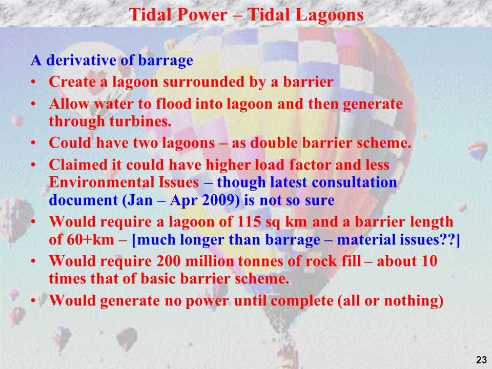 Tidal Power – Tidal Lagoons