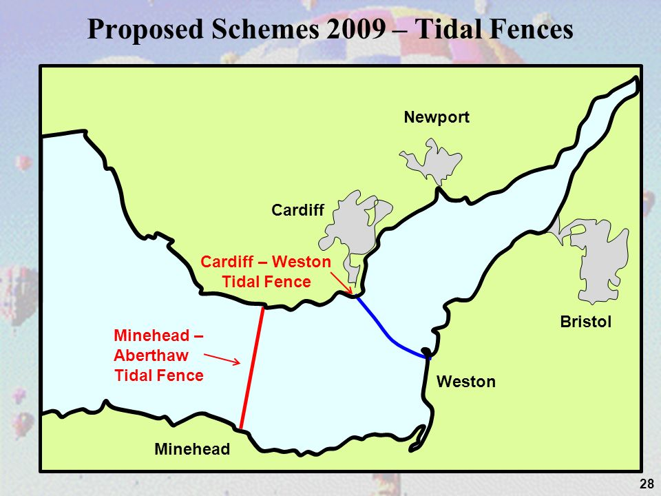 Proposed Schemes 2009 – Tidal Fences