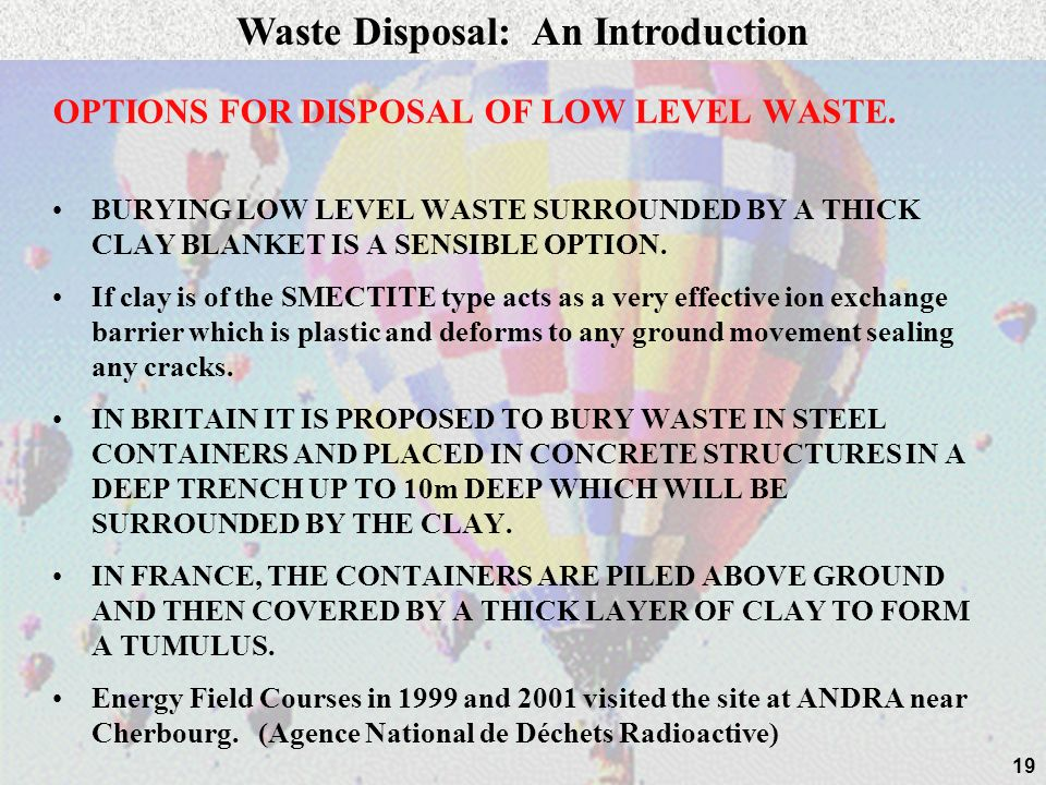 Waste Disposal: An Introduction