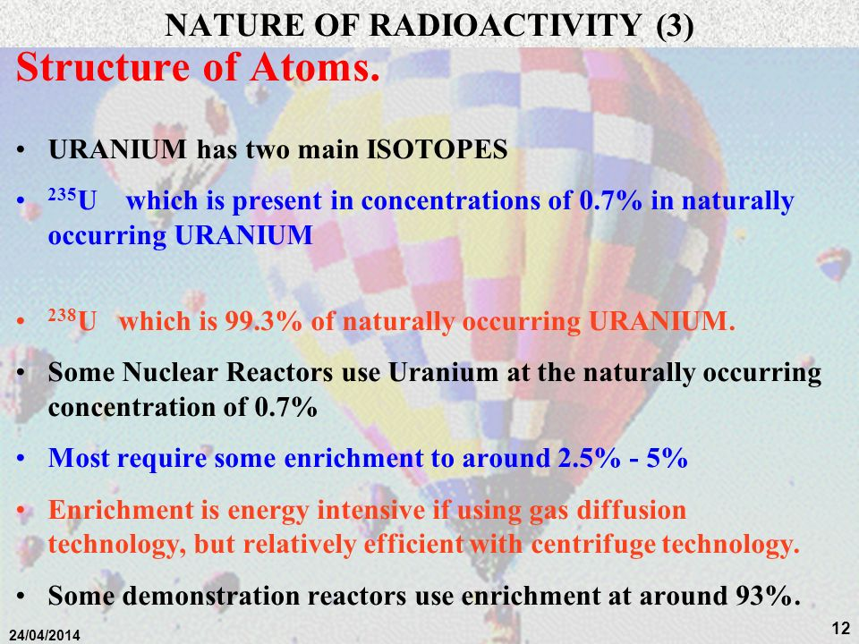 NATURE OF RADIOACTIVITY (3)