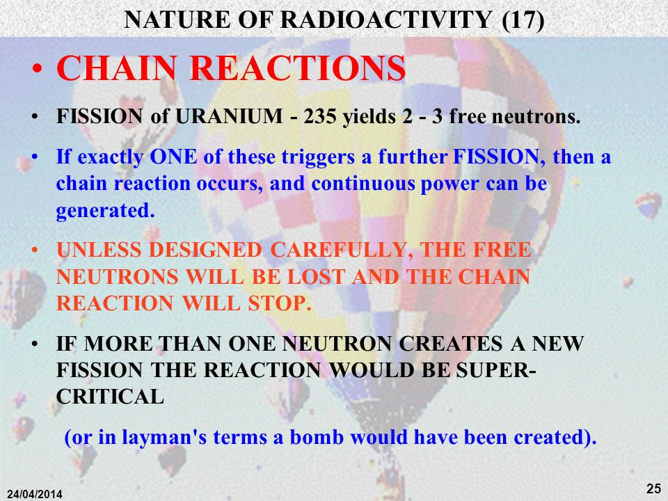 NATURE OF RADIOACTIVITY (17)