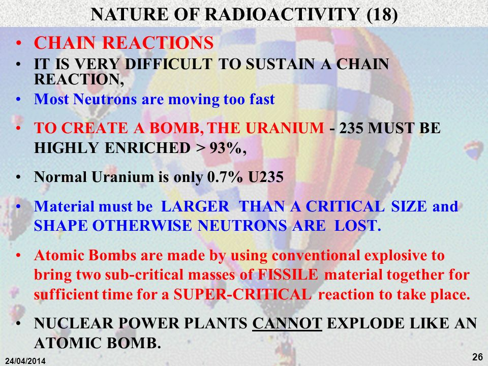 NATURE OF RADIOACTIVITY (18)