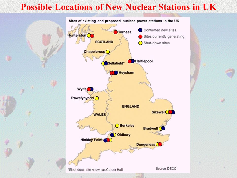 Possible Locations of New Nuclear Stations in UK