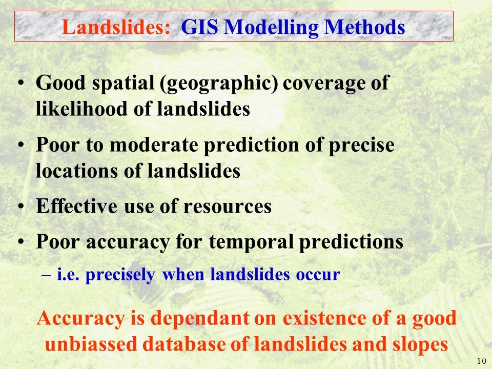 Landslides: GIS Modelling Methods