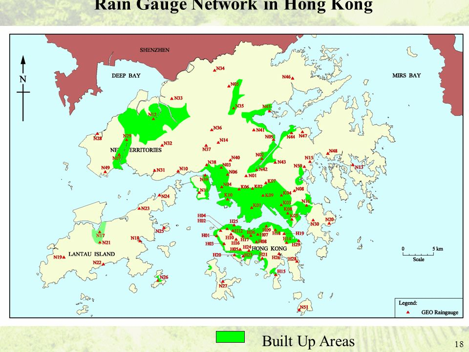Rain Gauge Network in Hong Kong