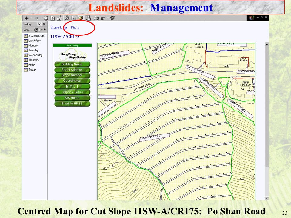 Landslides: Management