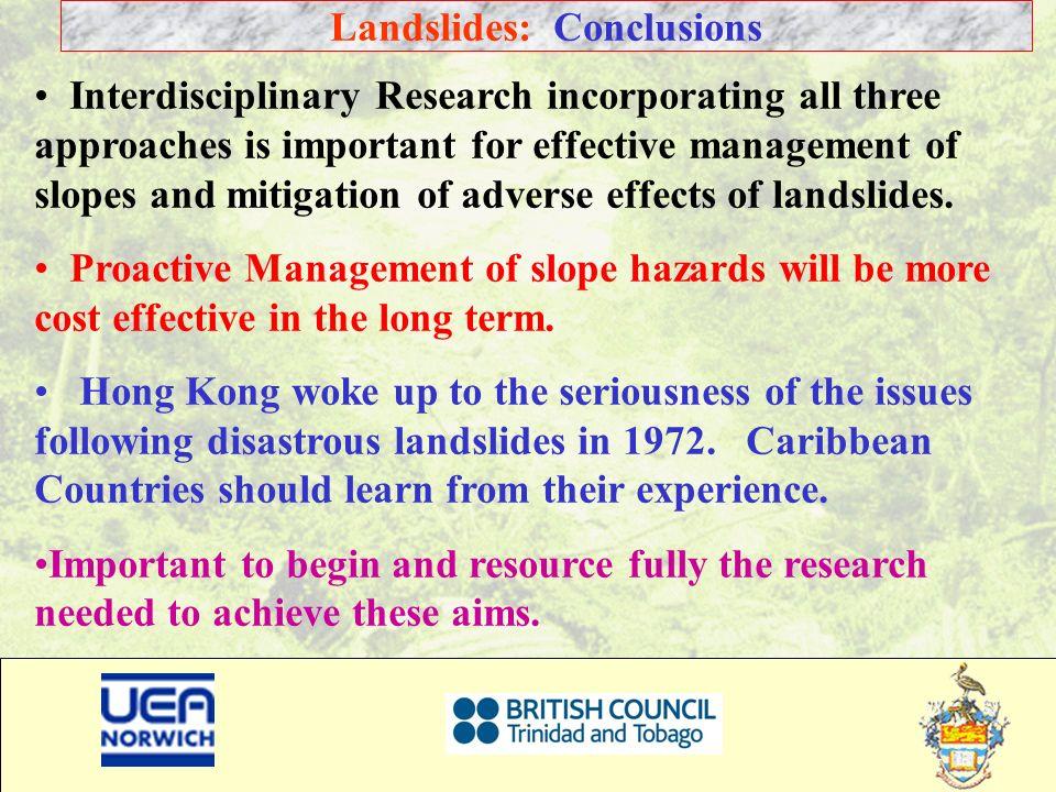 Landslides: Conclusions