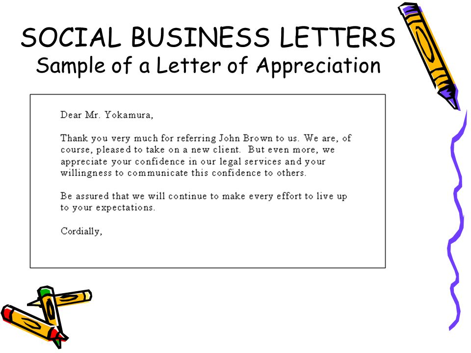 Kinds Of Social Personal Business Letter