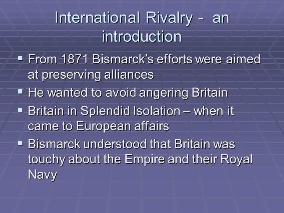 Why did Great Britain Emerge from Splendid Isolation, 1890 - 1904?