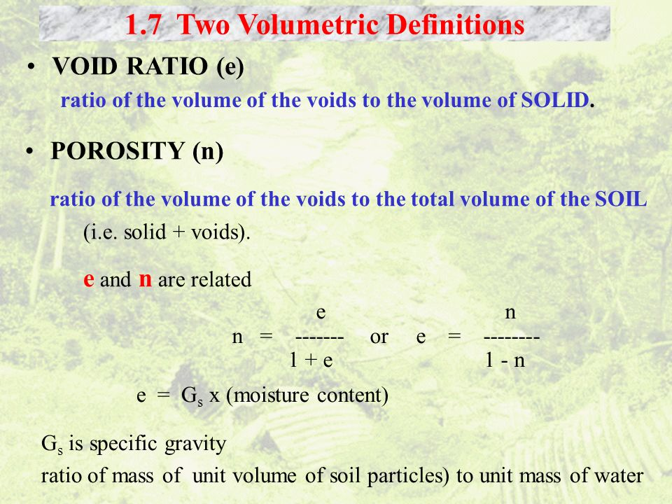 1.7 Two Volumetric Definitions