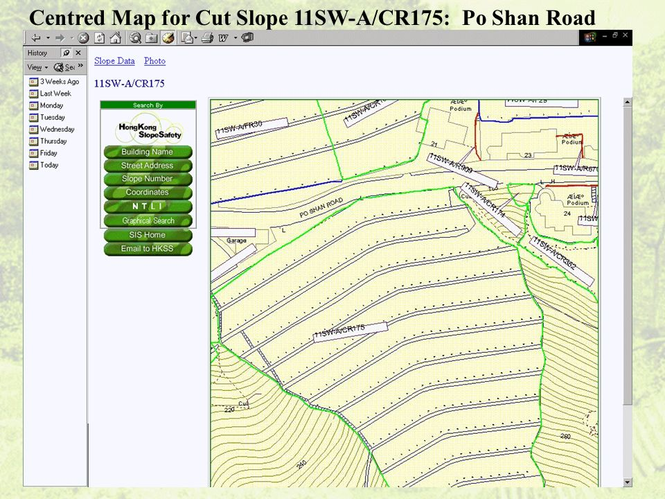 Centred Map for Cut Slope 11SW-A/CR175: Po Shan Road
