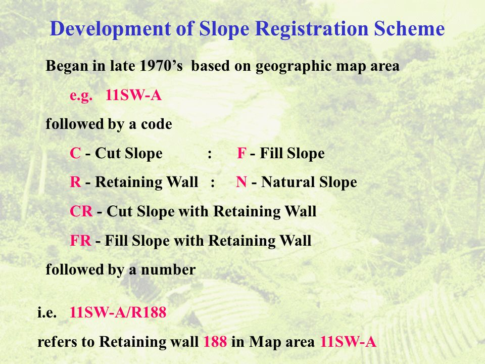 Development of Slope Registration Scheme