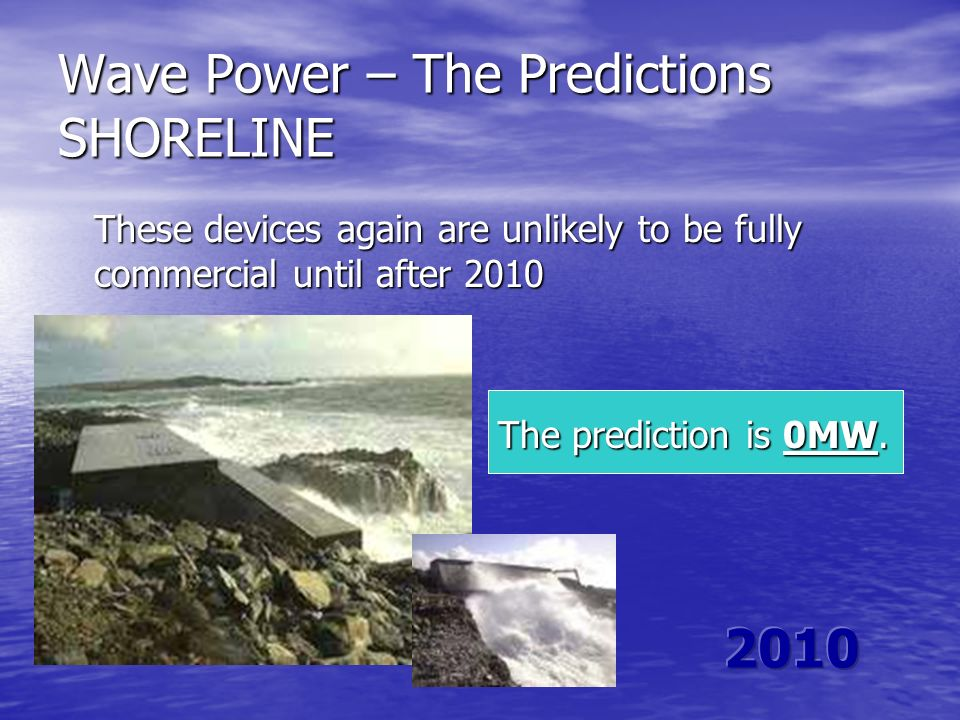 Wave Power – The Predictions SHORELINE