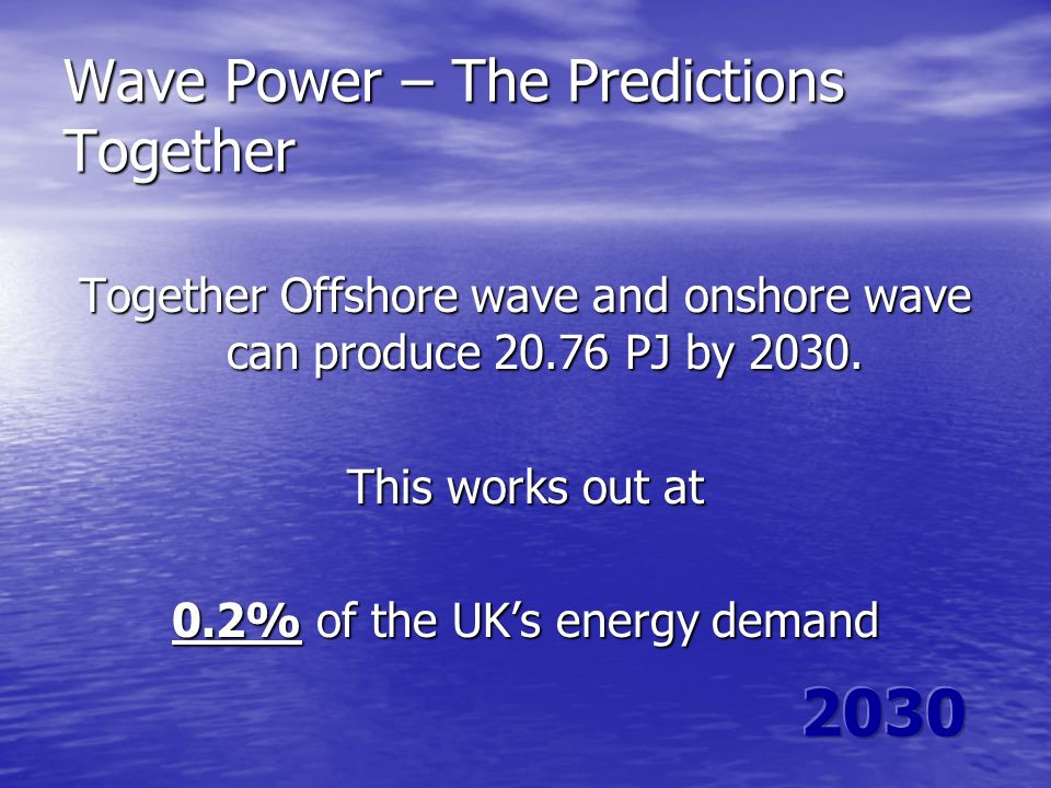 Wave Power – The Predictions Together