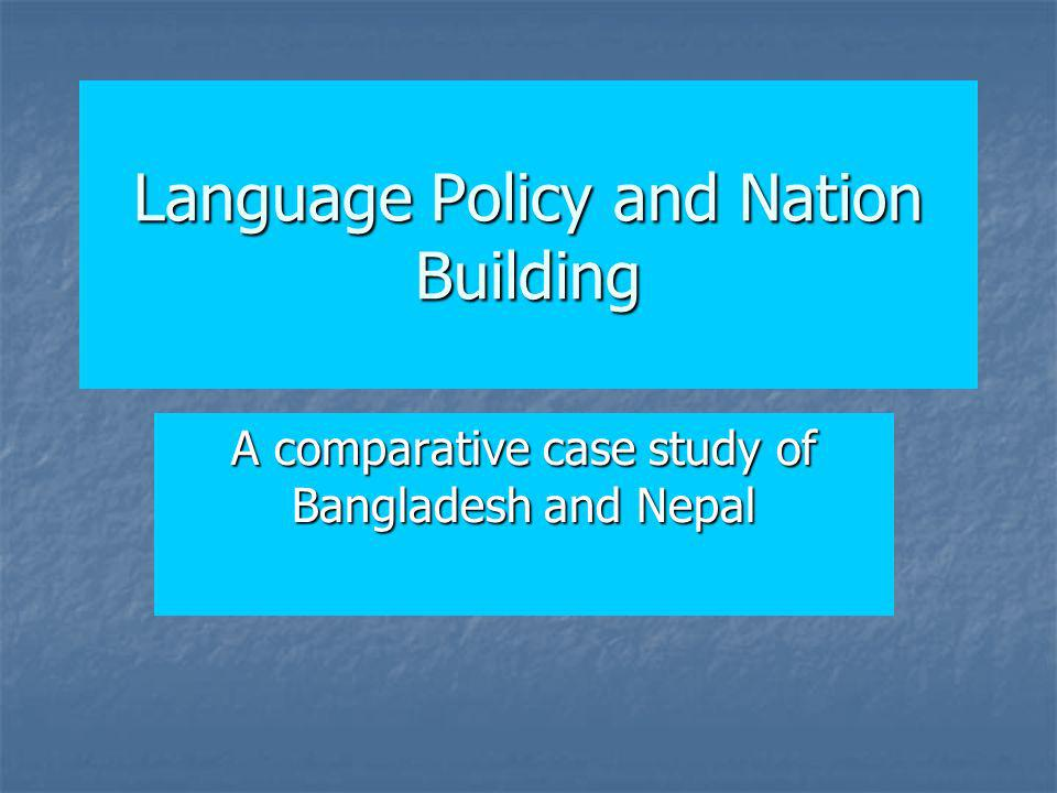 Language Policy and Nation Building