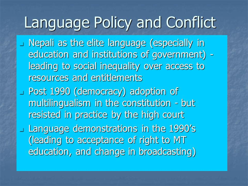 Language Policy and Conflict