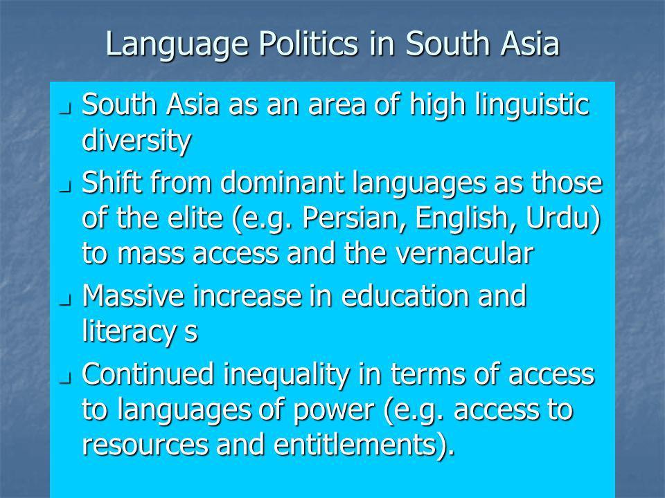 Language Politics in South Asia