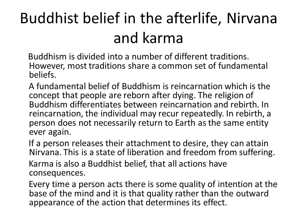 buddhism religion afterlife What 7 major religions believe about death and the afterlife  the buddhist  religion also doesn't see death as an ending, but rather a.
