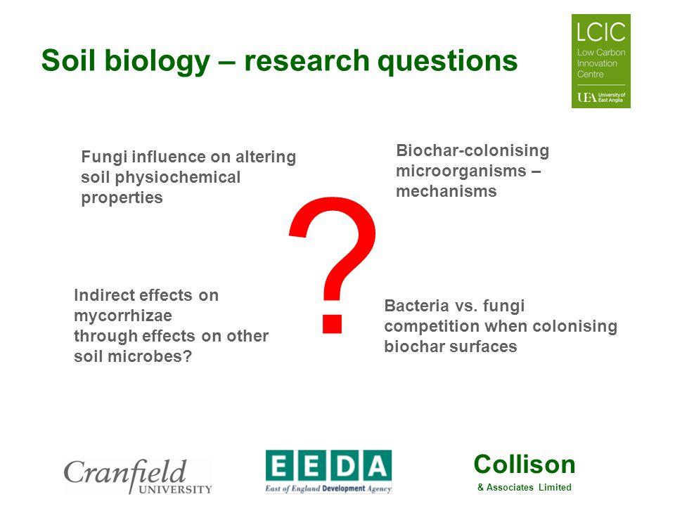 Soil biology – research questions Biochar-colonising