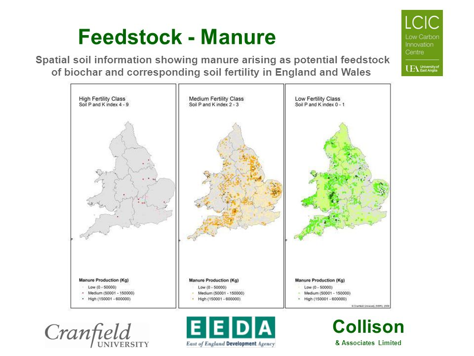 Spatial soil information showing manure arising as potential feedstock