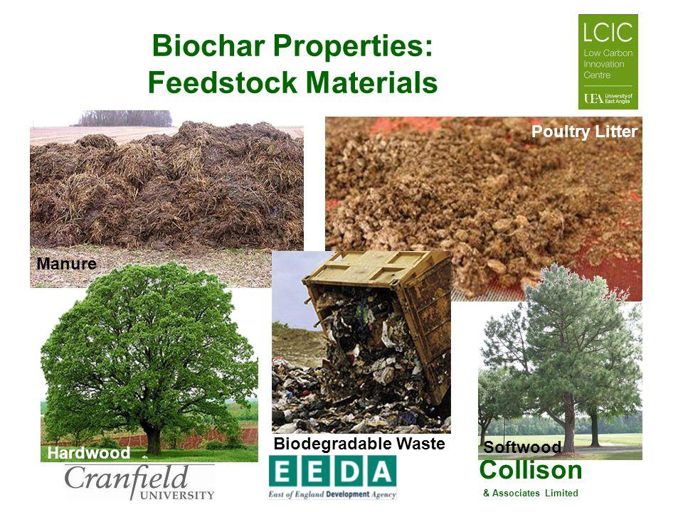Biochar Properties: Feedstock Materials