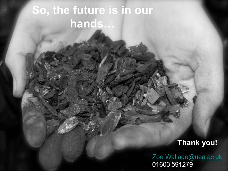So, the future is in our hands…