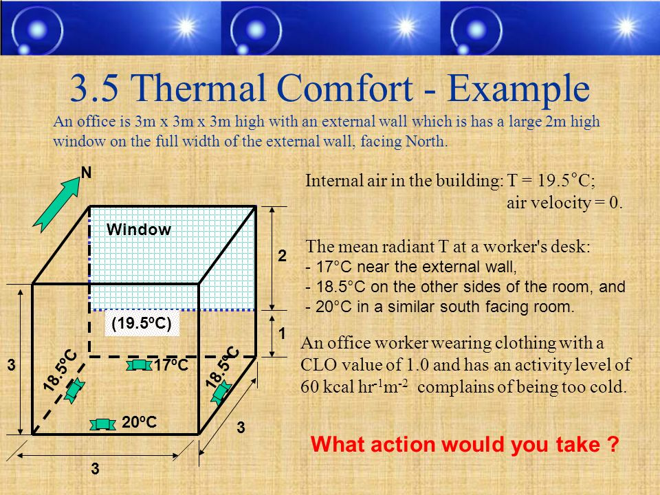 3.5 Thermal Comfort - Example