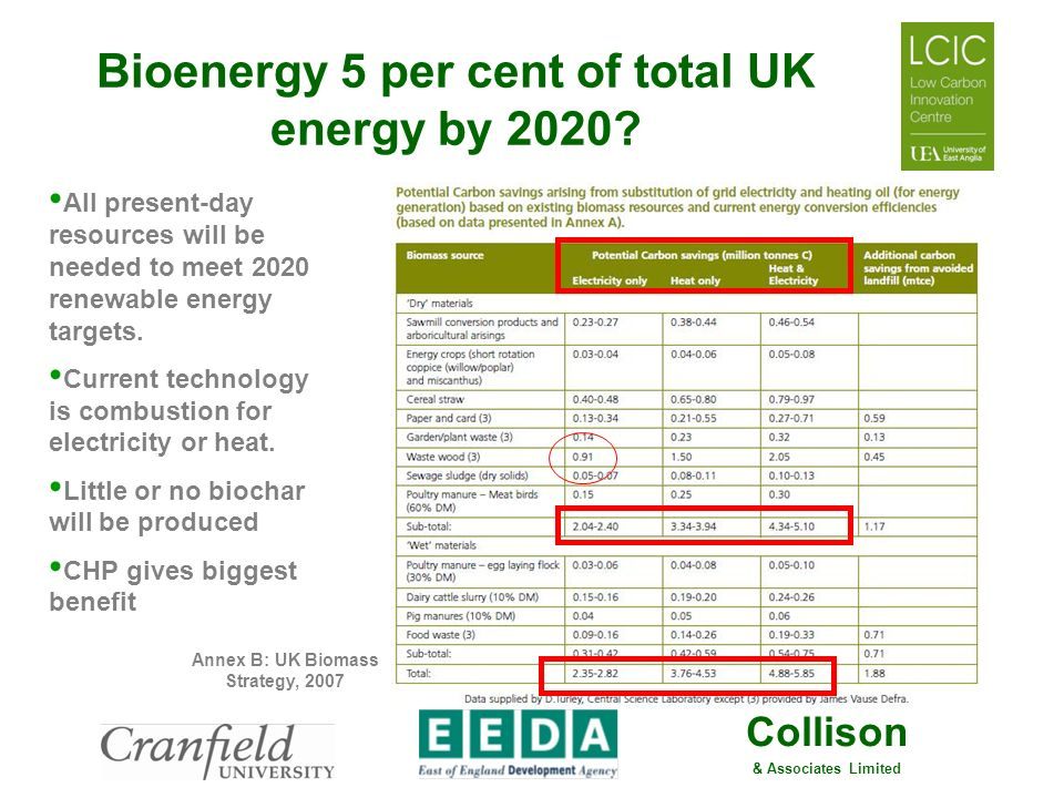Bioenergy 5 per cent of total UK energy by 2020