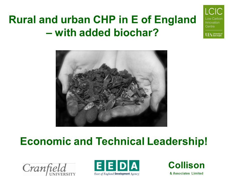 Rural and urban CHP in E of England – with added biochar