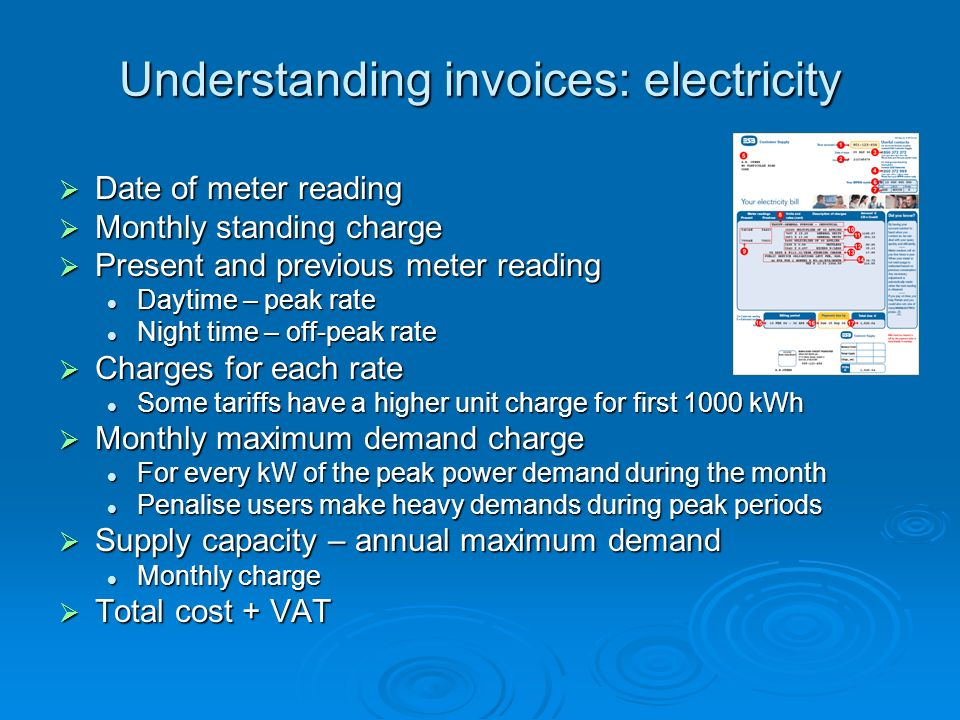Understanding invoices: electricity