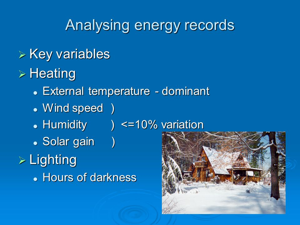 Analysing energy records