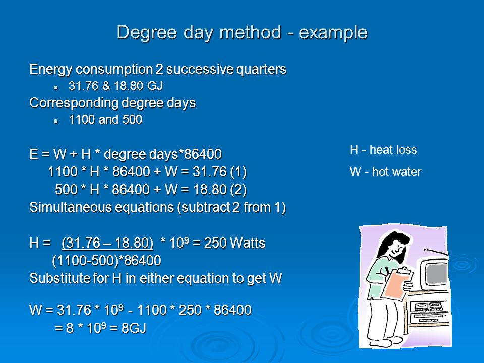 Degree day method - example