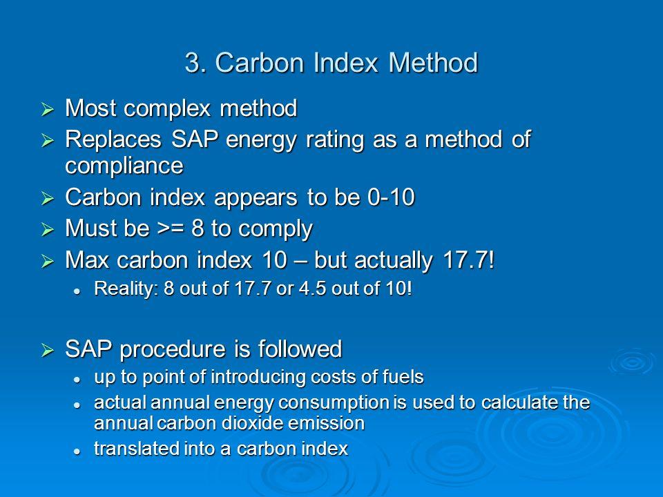 3. Carbon Index Method Most complex method