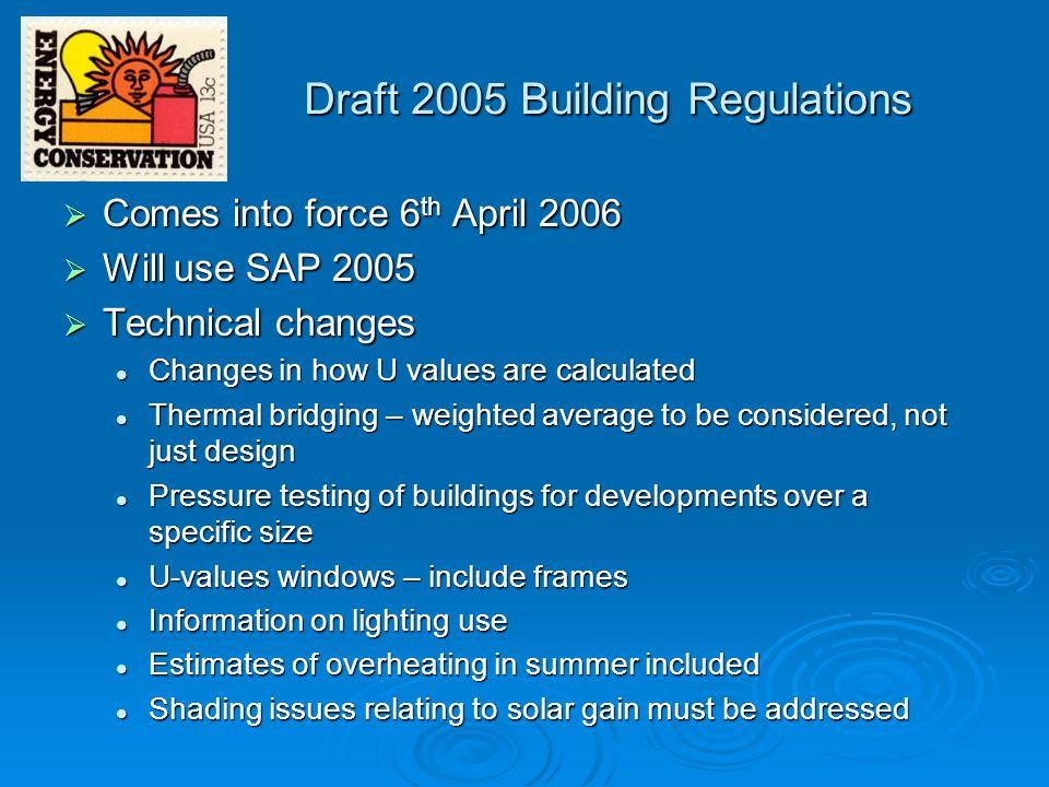 Draft 2005 Building Regulations