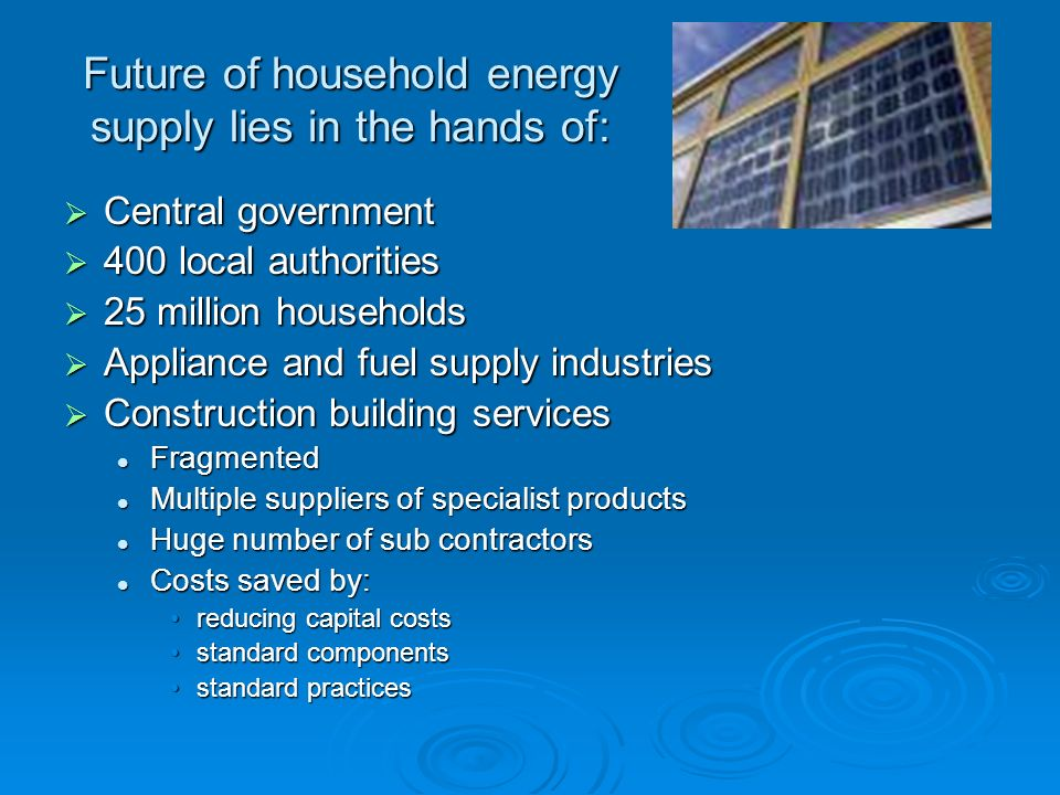 Future of household energy supply lies in the hands of: