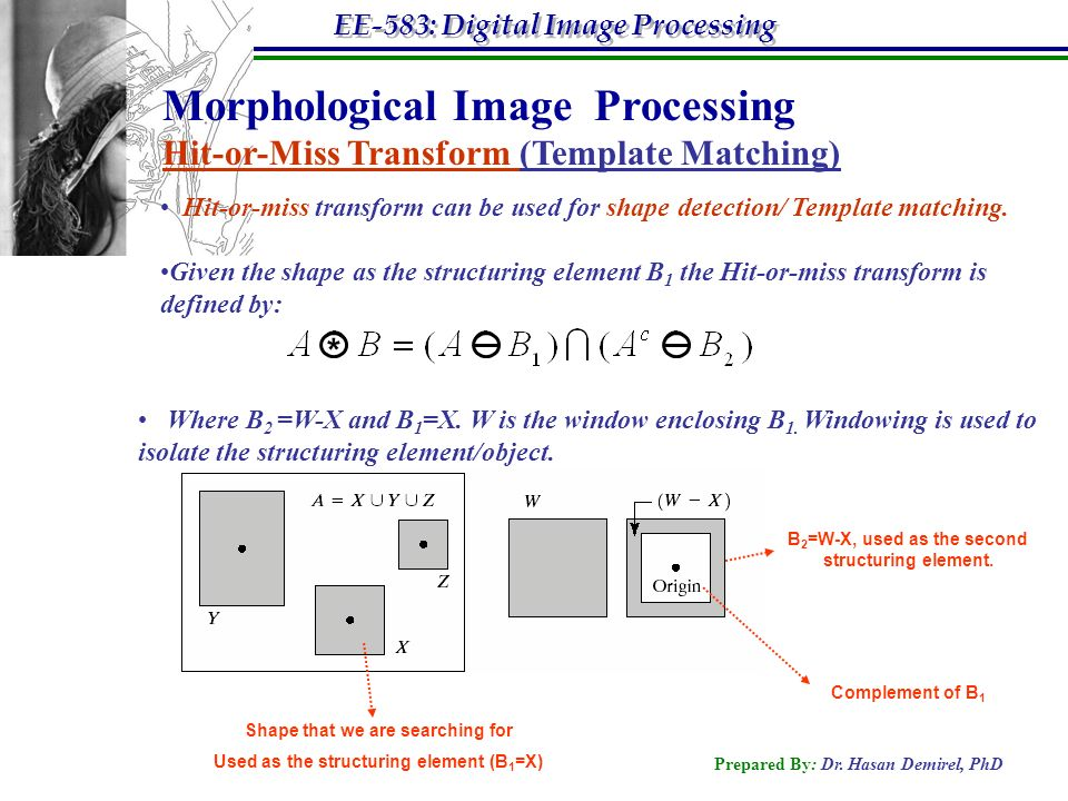 Morphological image processing ppt video online download for Template matching in image processing