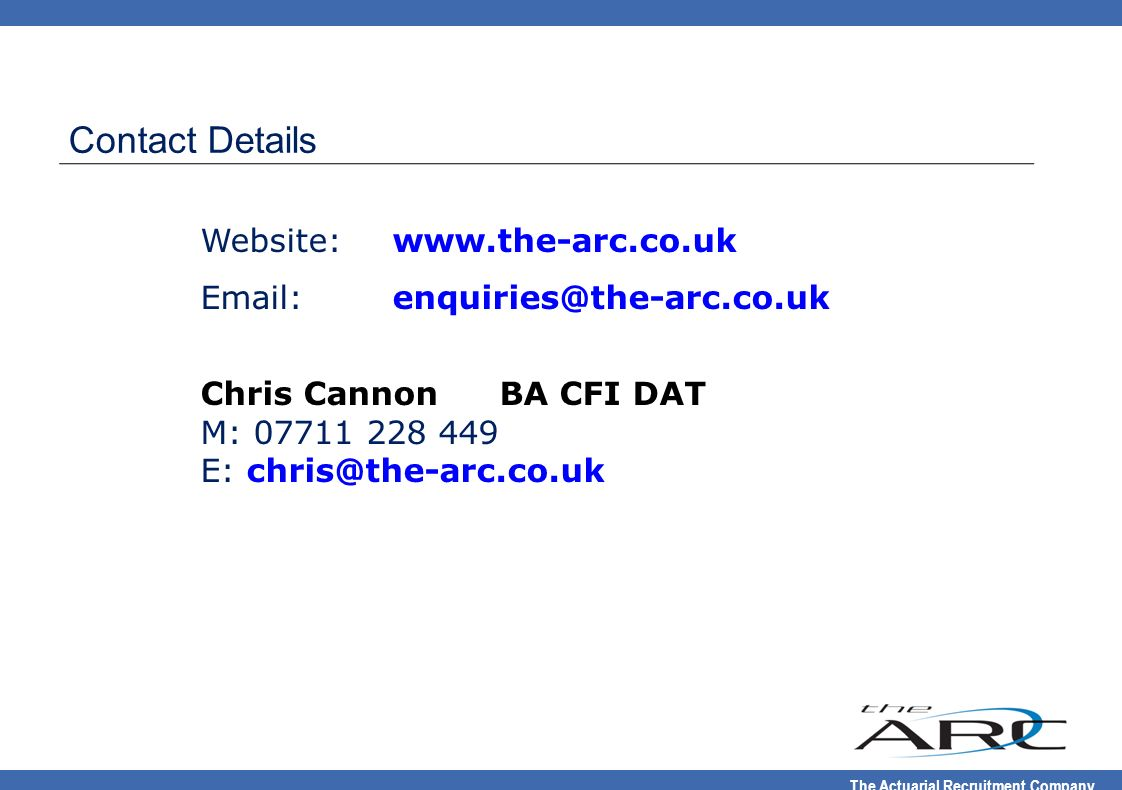 Contact Details Website: www.the-arc.co.uk