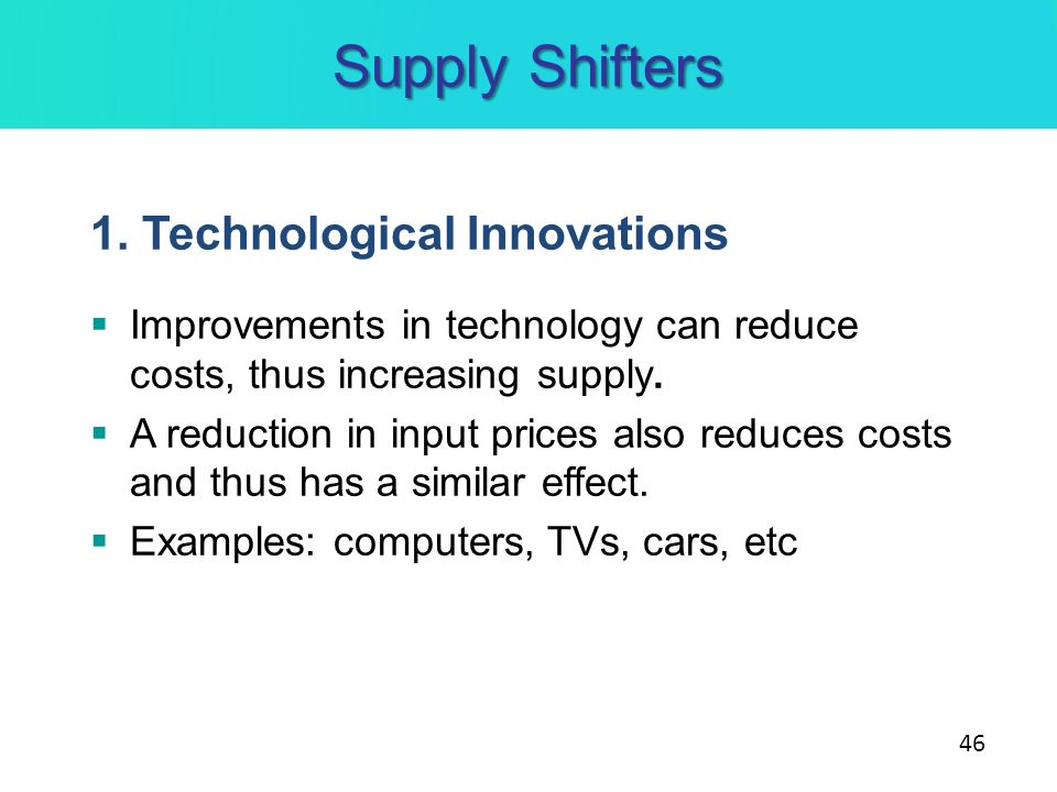 the impacts of innovation and technology on the cost of production The impact of technological innovation on critical materials risk  progress in production,  introduction of new technology: market factors: cost pass.