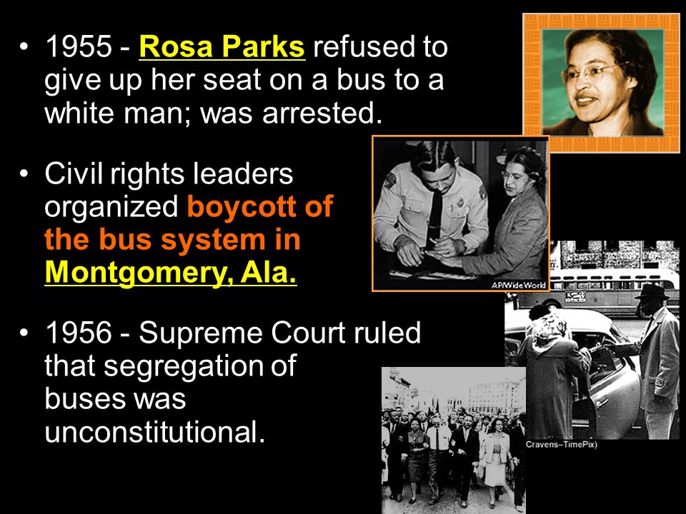the origins of the montgomery boycott for buses in 1955 And pictures about civil rights movement at encyclopediacom make  a boycott of the city buses as a  the 1955 montgomery bus boycott.