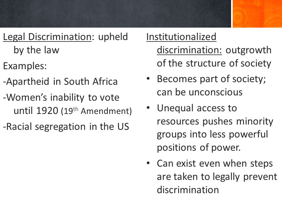 Tools of dominance prejudice and discrimination in south africa