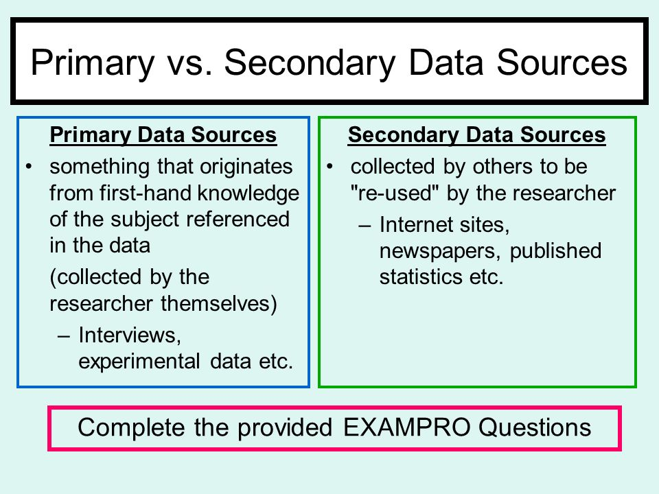 what is primary data and secondary data pdf