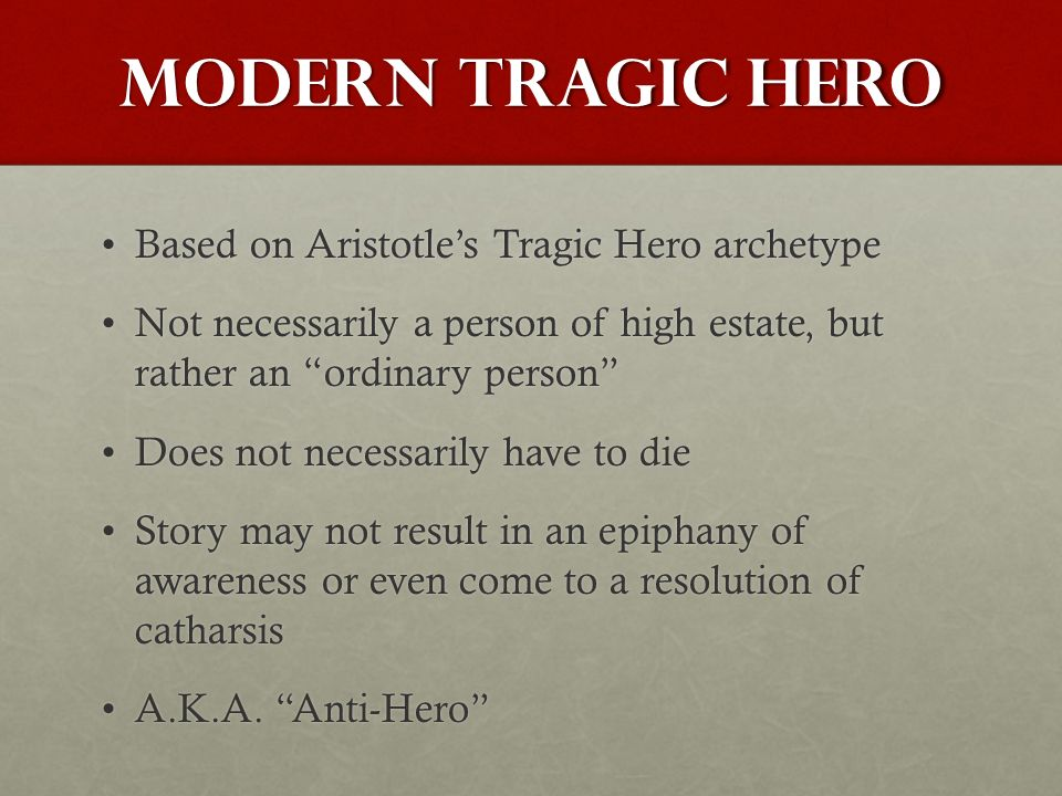 an analysis of the topic of the willy as a tragic hero according to aristotle