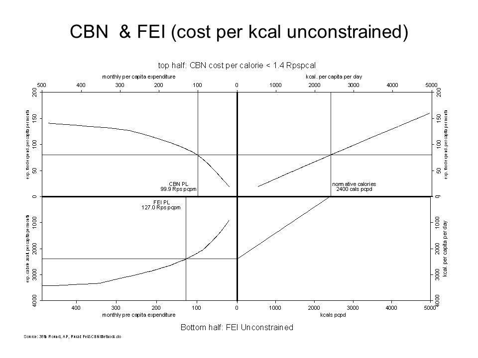 CBN & FEI (cost per kcal unconstrained)