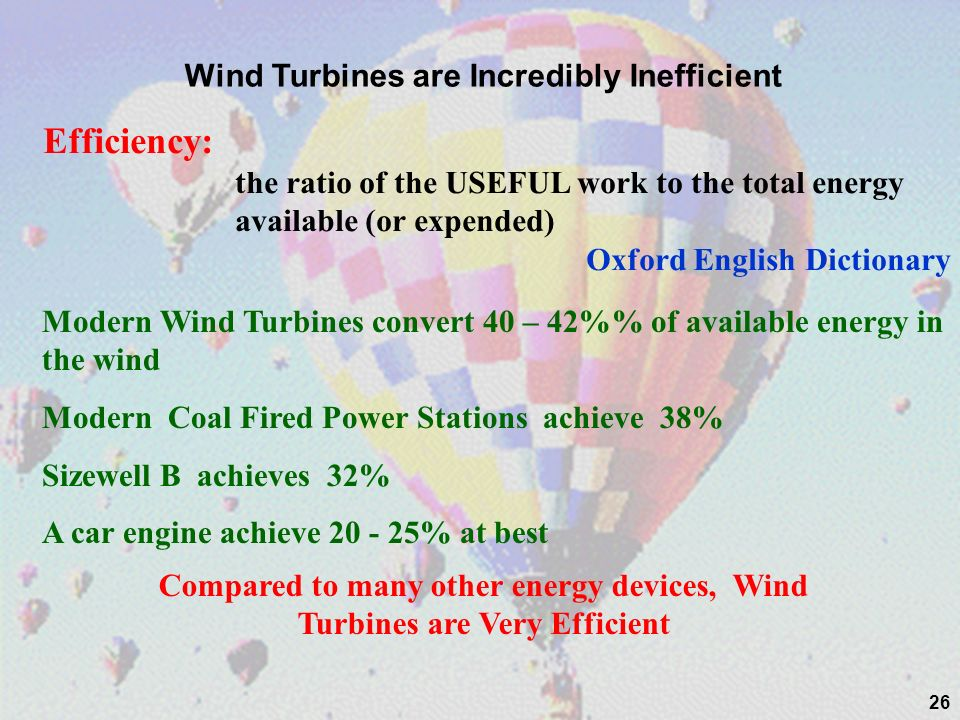 Wind Turbines are Incredibly Inefficient