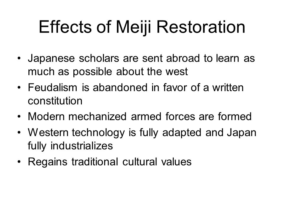 aim how did the meiji restoration move into the modern age effects of meiji restoration