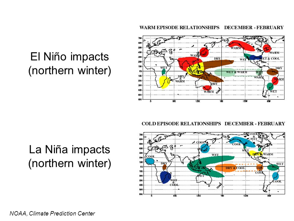 El Niño impacts (northern winter)