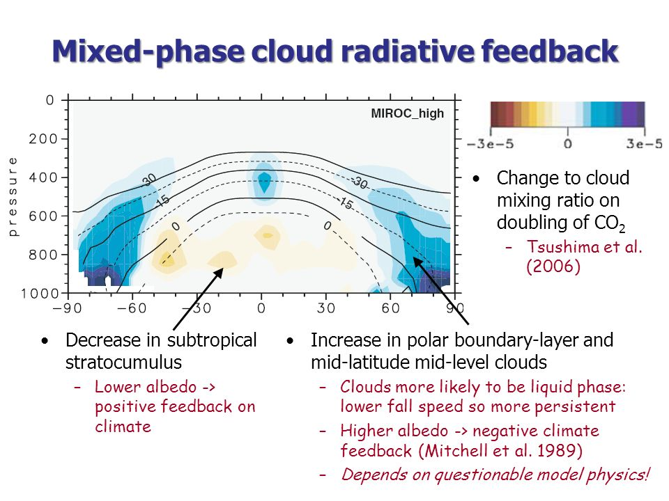 Mixed-phase cloud radiative feedback